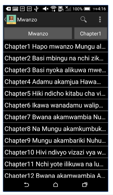 Swahili English Bible Screenshot 1