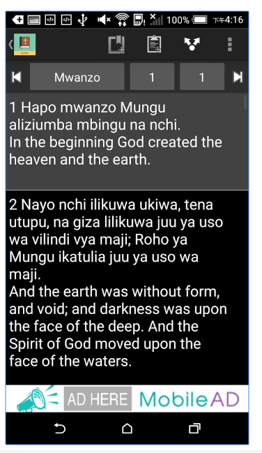 Swahili English Bible Screenshot 2